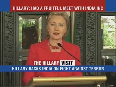 HRC Secretary of State news conference India Mumbai