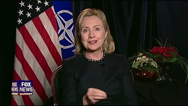HRC Secretary of State interview Lisbon Portugal NATO Fox News Sunday