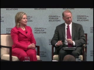 HRC SoS CFR conversation D.C. speech