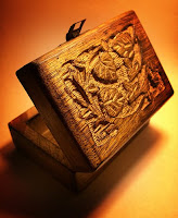 Caixas em madeira native american