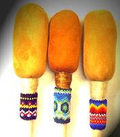 Baquetas para tambor native american