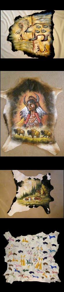 Peles decorativas pintadas artesanalmente.