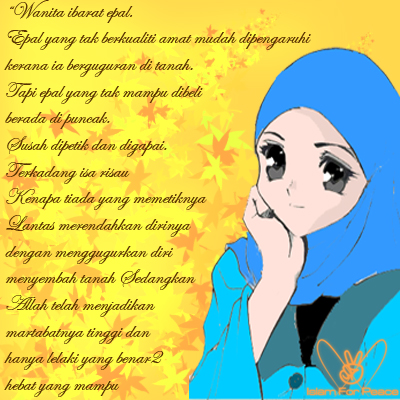 wallpaper muslimah kartun. wallpaper kartun muslim. rule