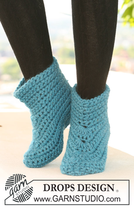 Crochet Shark Shoes Free Pattern : Maskemamma: Garnstudio