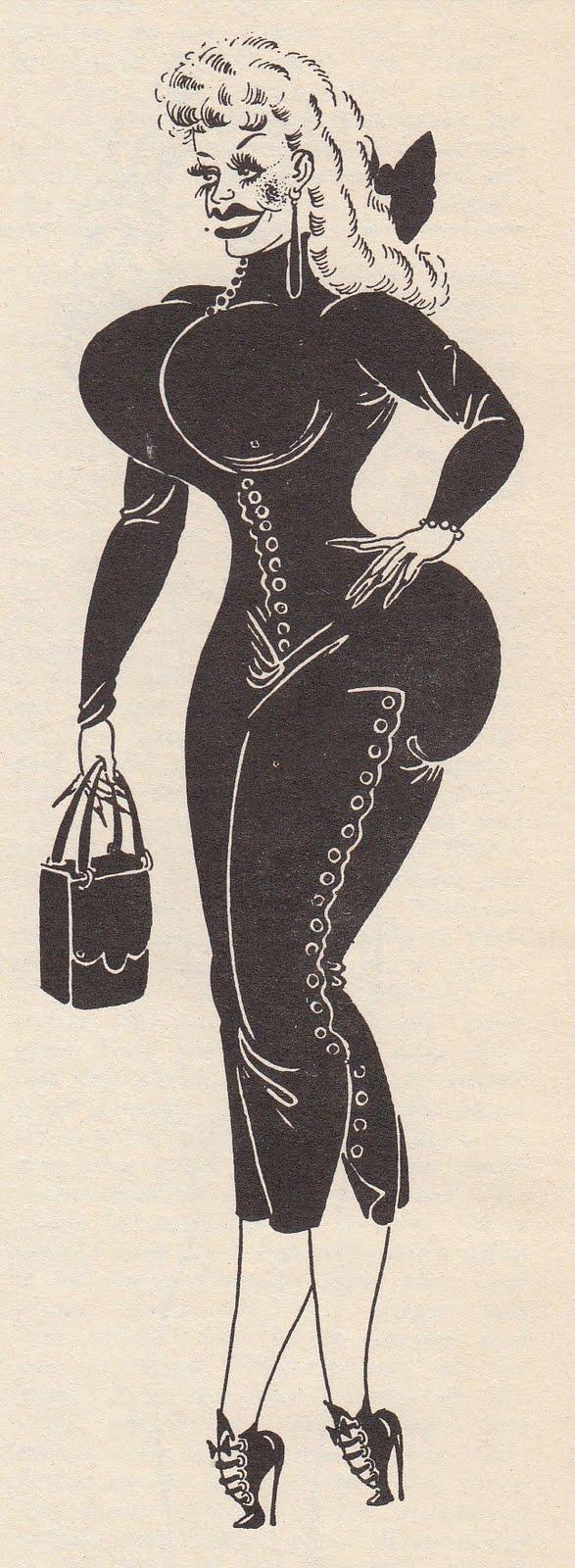 Janine of Utopia Magazines Female Al Hirschfeld of the Sleazy Kind Vintage ...