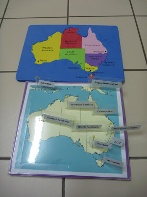 Geography Puzzle of Australia - Australia Pin Map