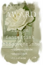 Jeg har fått en fin award. Av ikke mindre en 3 stykker.