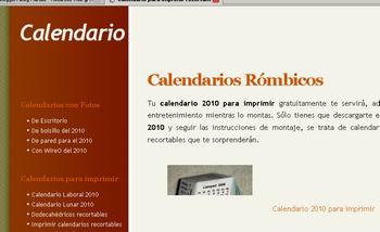 Hacer calendarios 2010 imprimible