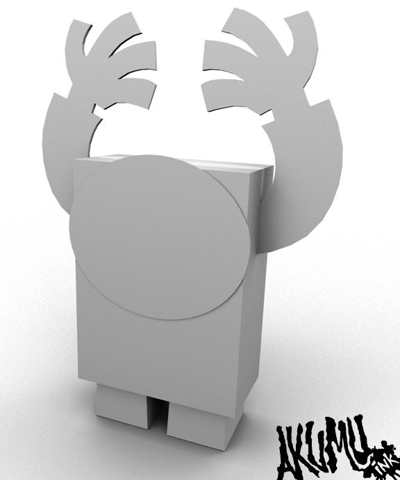indie toy, paper toy, designer toy, horror toy,