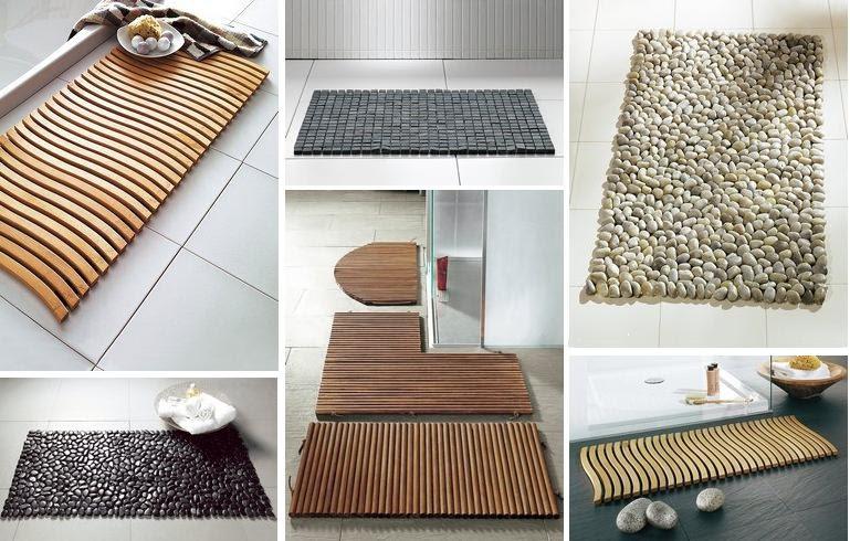Interieur huis bijzondere badkamer matten - En grijze bad leisteen ...