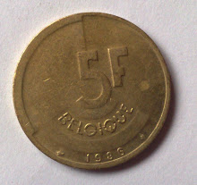 Belgium 5 Francs Rear View