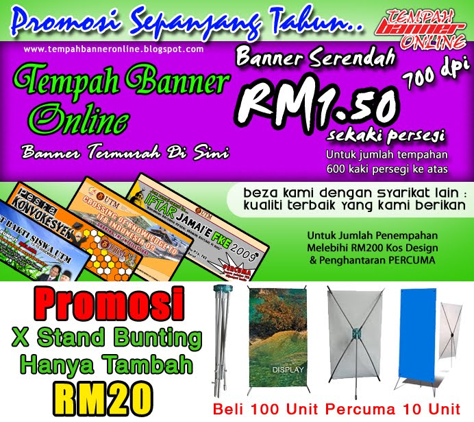 Tempah Banner Online | Banner / Kain Rentang Termurah Di Sini