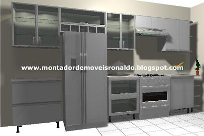 Cozinha Planejada Branca com Puxador de Alumínio