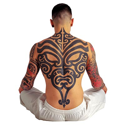 Combination of Traditional Tattoos with Tribal Tattoos