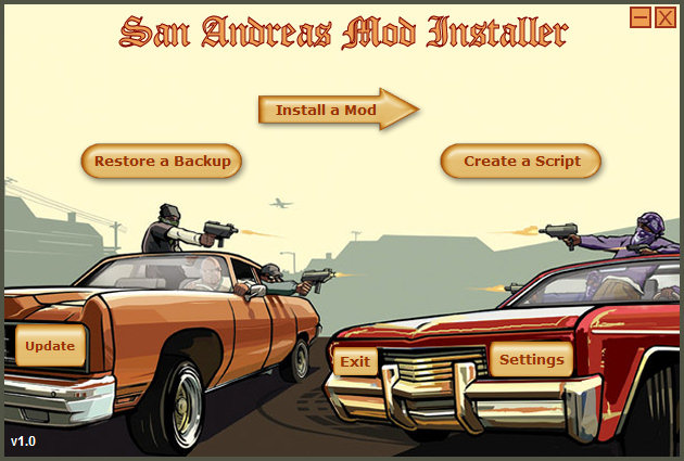 gta san andreas mod installer