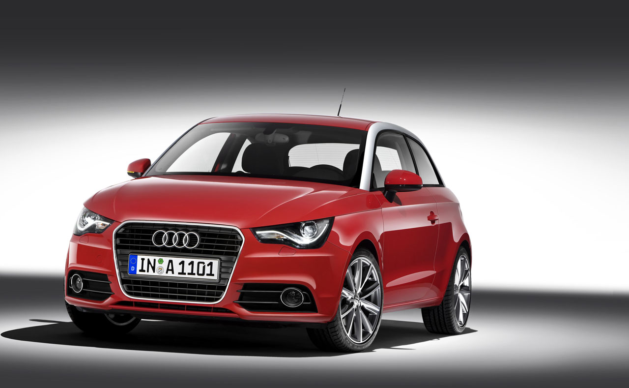 2011 Red Audi A1 50s cool Front Wallpaper title=