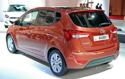 Mobil Hyundai ix20 MPV new B-segment 2010