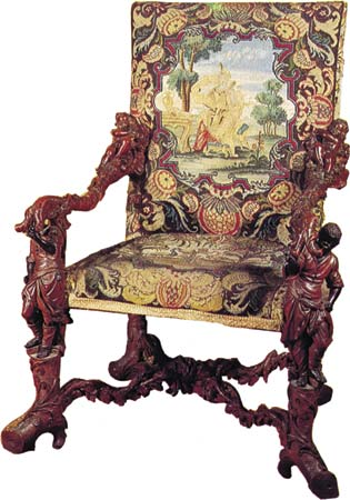 Het antieke stoeltje petrashandwerken steekje voor steekje - Stoel dineren baroque ...