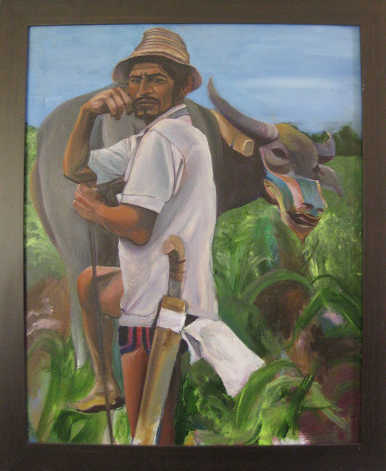 """Pinoy Farmer"" Oil on Illustration Board"