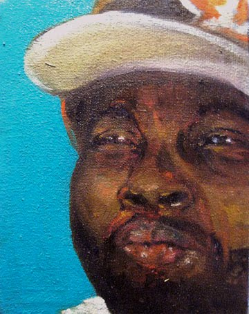 """RIP J DILLA""  Oil on Canvas"