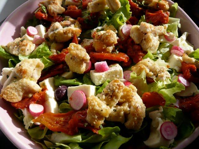 mes recettes cr atives salade blancs de poulet au parmesan. Black Bedroom Furniture Sets. Home Design Ideas