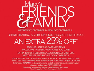 Macys FF 570x435 Macys Family & Friends | Extra 25% Off Discount