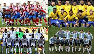 Brasil, Ghana, Argentina, Paraguay
