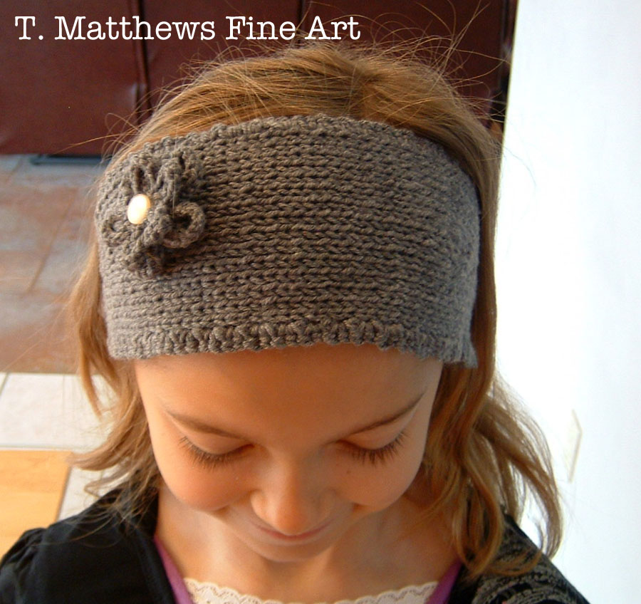 Headband Knitting Pattern : T. Matthews Fine Art: Free Knitting Pattern - Headband Ear ...