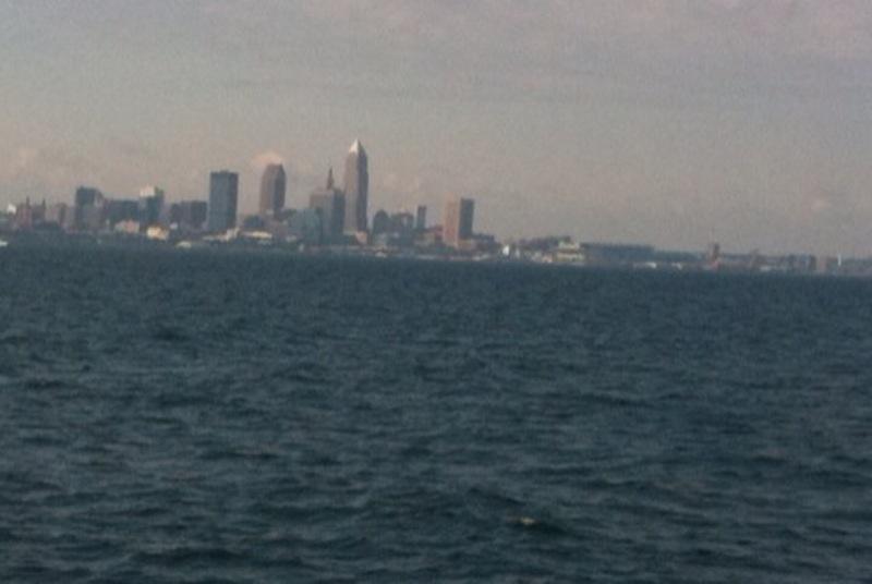 cleveland skyline. of the Cleveland skyline.