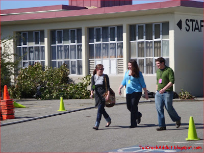Stephenie Meyer, Alice Cullen & Forks High Kids on Set of Untitled Sports