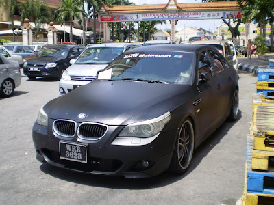 Matte Black BMW 5 Series