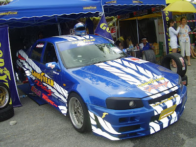 issan Cefiro A31 converted to Skyline R34 from Goodyear Racing