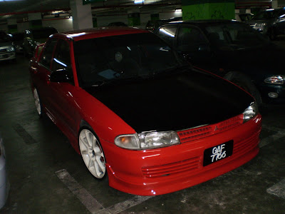 Proton Wira converted to Mitsubishi Lancer