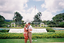 Zac and I in front of the Lai Hawaii temple