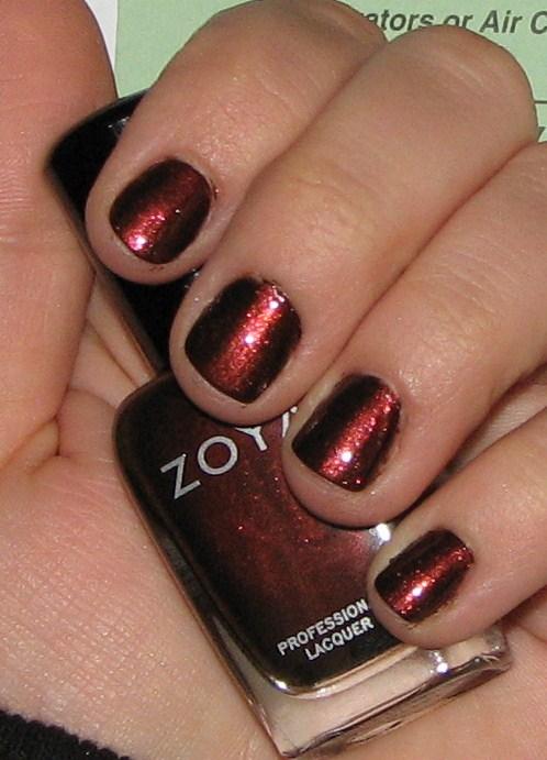 Blushing Noir: Zoya Cheryl Nail Polish Review & Swatches