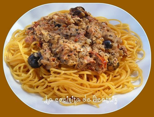 La cocinita de beatriz spaguetti de tomate con salsa de - Salsa de tomate y nata ...