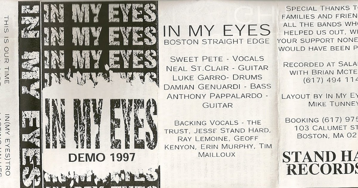 Lyric minor threat in my eyes lyrics : Classic Records: In My Eyes - 1997 Demo ~ STUCK IN THE PAST
