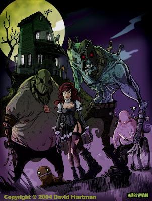 horror comic book art