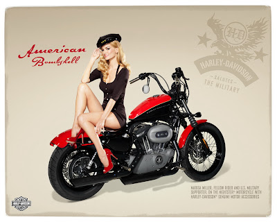 Marisa Miller and Harley Davidson – Pin Up Style Ads