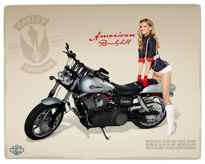 Marissa Miller and Harley Davidson
