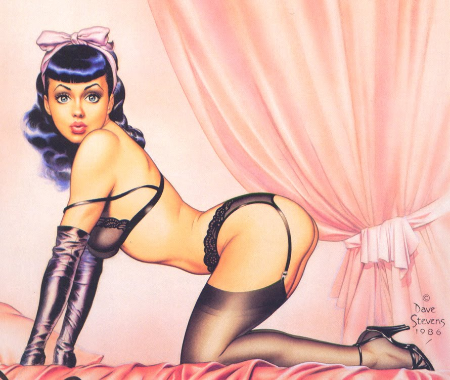Dave stevens pin up and cartoon girls art vintage and for Diva futura artiste