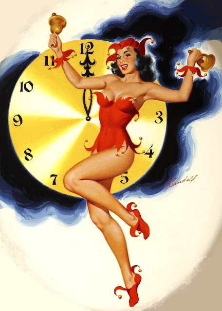 happy new year pin up