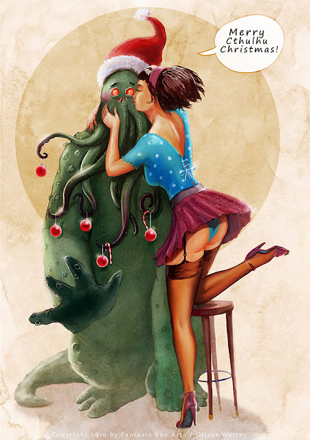 Lovecraftian x-mas greetings by Oliver Wetter