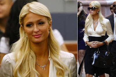 Paris Hilton Lovely Courtroom Style