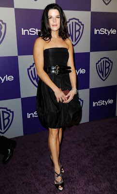 Neve Campbell Lovely With Black Dress