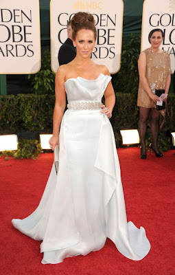 Jennifer Love Hewitt Lovely In A Strapless Ice Blue Romona Keveza Spring 2011 Gown