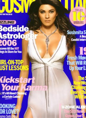Sushmita Sen Posed On The Cover Of Cosmopolitan Mag's