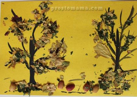 Картинки из природного материала осень