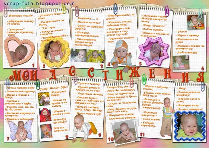 Плакаты на день рождения ребенка 1 год