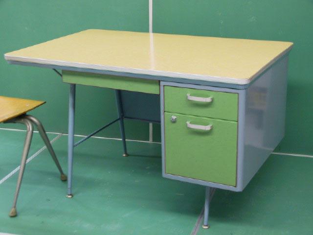 Sallad Mid century mod teachers desk
